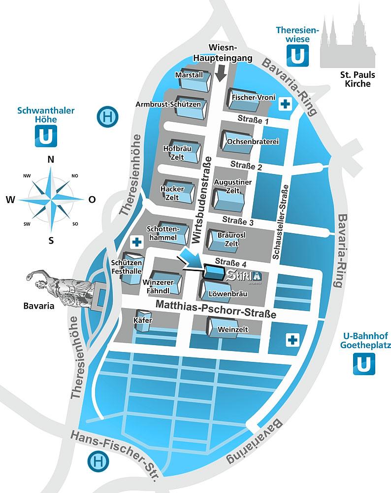 Wiesn Plan - Oktoberfest Map